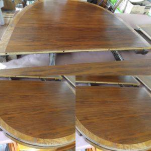 Walnut dining room table with curly maple border | St Clair\'s ...