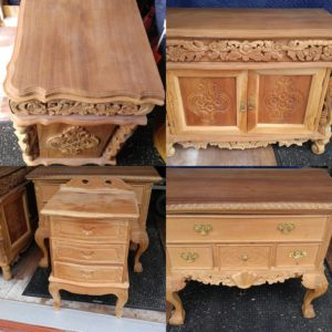 Before Pictures Of Our Latest Restoration Project It Is A Four Piece Teak Wood Dresser